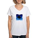 Blue Cane Corso Women's V-Neck T-Shirt