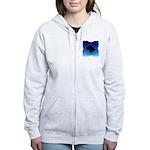 Blue Cane Corso Women's Zip Hoodie