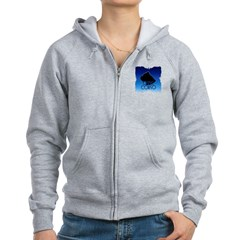 Blue Cane Corso Zip Hoodie