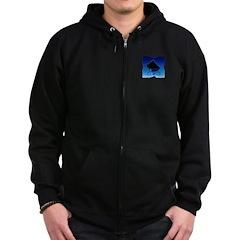 Blue Cane Corso Zip Hoodie (dark)