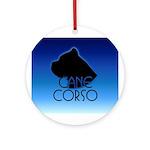Blue Cane Corso Ornament (Round)