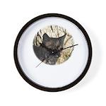 Bobcat in Brush Wall Clock