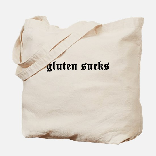 gluten sucks Tote Bag