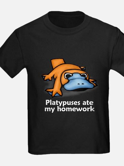 Platypuses ate my homework T