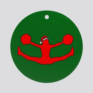 Christmas Cheerleader Ornament (Round)
