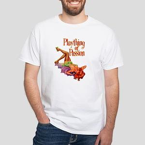 Plaything Pulp Pin Up Girl White T-Shirt