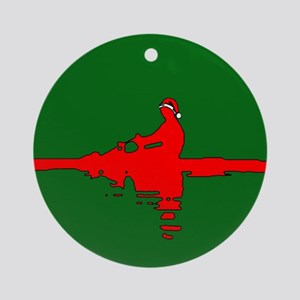 Christmas Rower Ornament (Round)