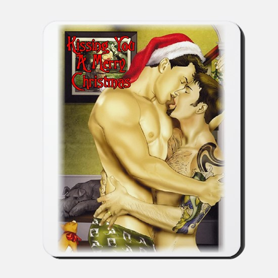 kissing you merry christmas Mousepad