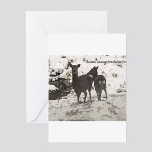 New Forest Sika Deer Christmas Card Greeting Cards