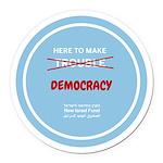 Democracy Round Car Magnet