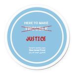 Justice Round Car Magnet