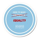 Equality Round Car Magnet