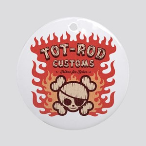 Tot-Rod Customs Ornament (Round)