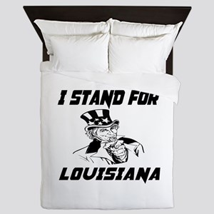 I Stand For Louisiana Queen Duvet