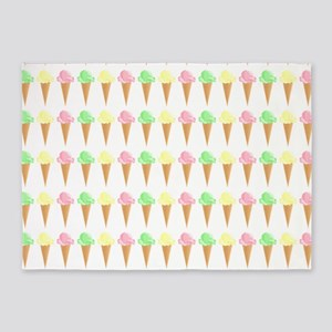 Ice Cream Cone Pattern 5'x7'Area Rug