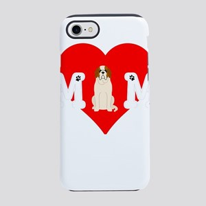 Dog Mom Heart Paw Prints St iPhone 8/7 Tough Case