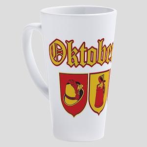 Oktoberfest Beer and Pretzels 17 oz Latte Mug