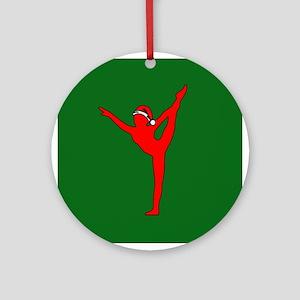 Christmas Gymnast Ornament (Round)
