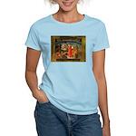 The Divine Comedy fresco  Women's Pink T-Shirt