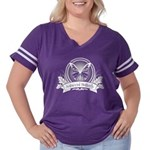 Antisocial Butterfly Women's Plus Size Football T-