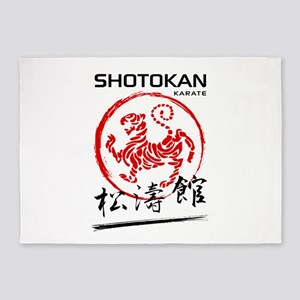 Shotokan Karate Tiger 5'x7'Area Rug