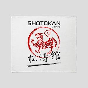 Shotokan Karate Tiger Throw Blanket