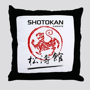 Shotokan Karate Tiger Throw Pillow