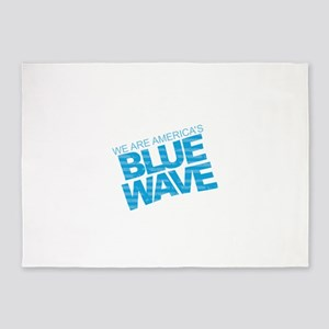 Blue Wave 5'x7'Area Rug