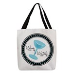 Wine me up & Watch me go Polyester Tote Bag
