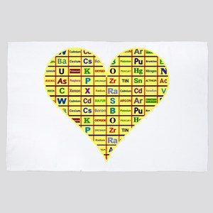 Heart Chemical Elements 4' x 6' Rug
