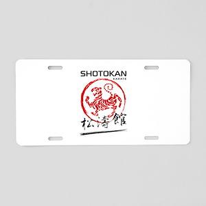 Shotokan Karate Tiger Aluminum License Plate