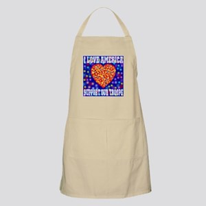 I Love America Support Our Tr BBQ Apron