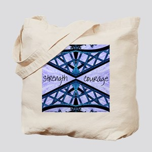 Blue Courage Tote Bag