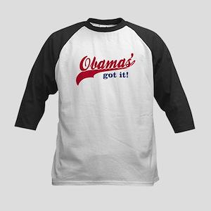 Obama Gear with Tail Kids Baseball Jersey