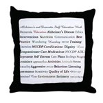 Compassionate Dementia Care Throw Pillow