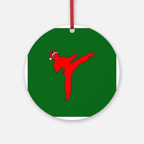 Christmas Martial Arts Ornament (Round)
