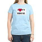 LOVE MY YORKIE Women's Pink T-Shirt