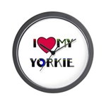 LOVE MY YORKIE Wall Clock