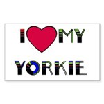 LOVE MY YORKIE Rectangle Sticker