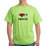 LOVE MY YORKIE Green T-Shirt