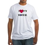 LOVE MY YORKIE Fitted T-Shirt