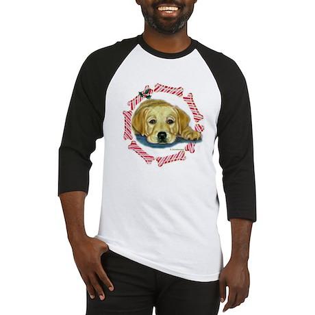 Holly Lab Pup Xmas Baseball Jersey