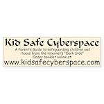 Kid Safe Cyberspace Bumper Sticker (2)