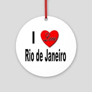 I Love Rio de Janeiro Ornament (Round)