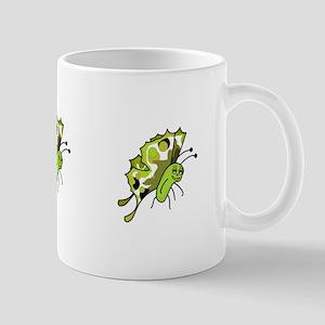 Cute Polka Dot Butterfly Mug