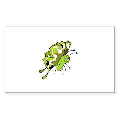 Cute Polka Dot Butterfly Rectangle Sticker 10 pk)