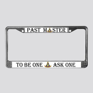 Past Master Mason License Plate Frame