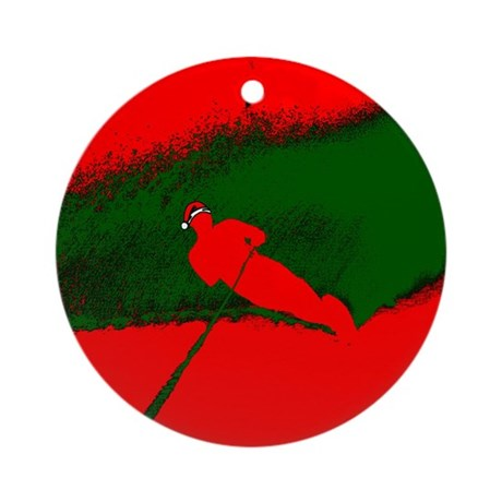 Christmas Waterskier Ornament (Round)