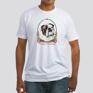 Bulldog Happy Holiday Fitted T-Shirt