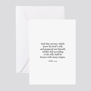 LUKE  12:47 Greeting Cards (Pk of 10)